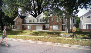 Minnehaha Townhomes Street Elevation