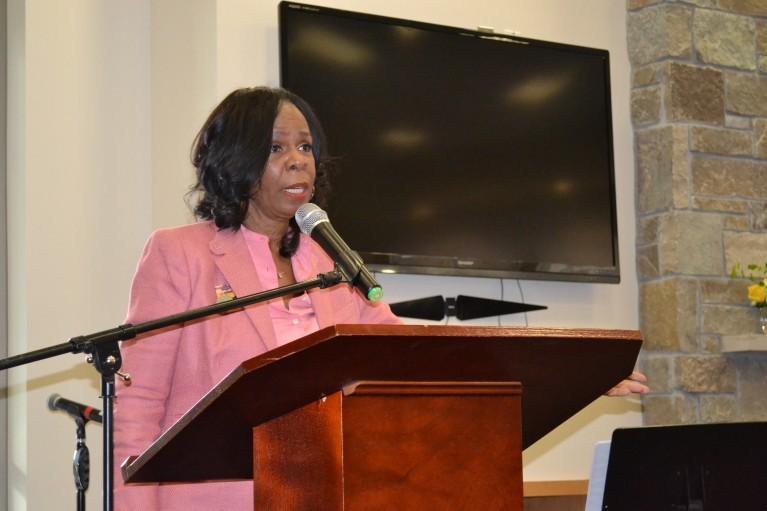 Cora McCorvey at McCorvey Center Dedication