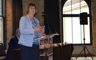 "Family Housing Fund President Ellen Sahli at ""Thinking Locally, Solving Regionally"" in August 2017"