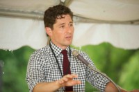 Mayor Jacob Frey at the Minnehaha Townhomes groundbreaking