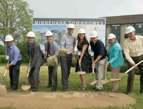 A groundbreaking for Minnehaha Townhomes!