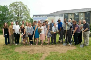 MPHA staff celebrate the groundbreaking in May 2018