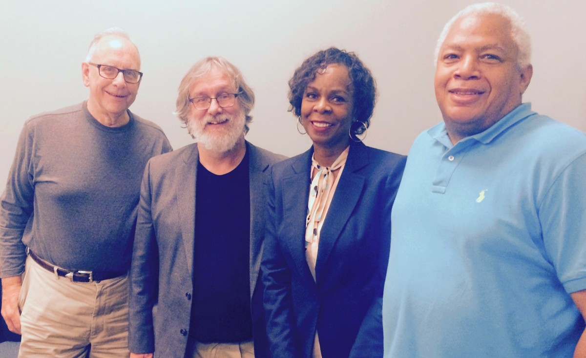 MN Representative Joe Mullery - (DFL) District: 59A – Minneapolis, MPHA Executive Director/CEO, Cora McCorvey, Bob Boyd, MPHA Director of Policy and Special Initiatives, and MPHA's Ben Jackson.
