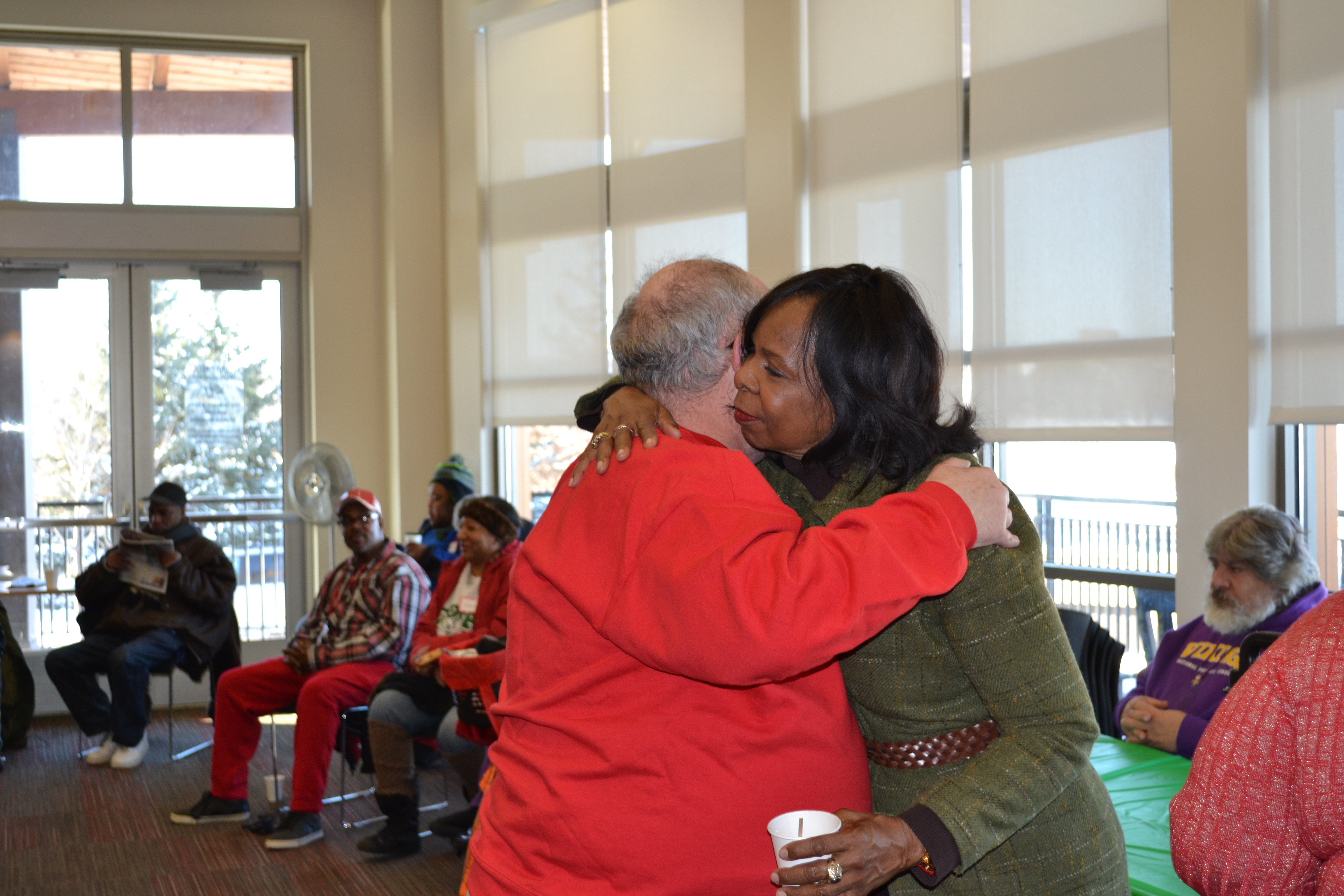 Cora McCorvey says farewell to residents