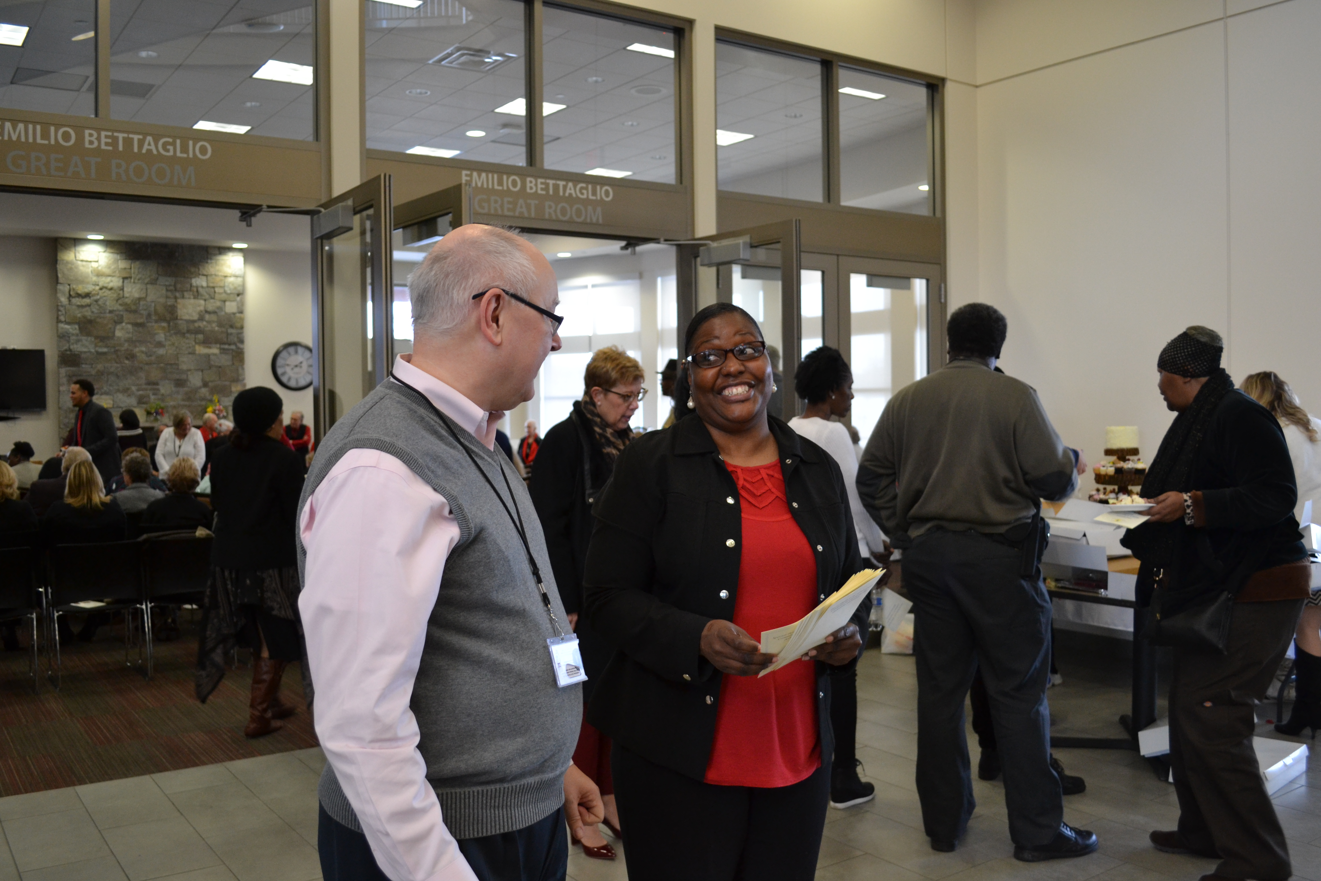 Employees at McCorvey Center Dedication