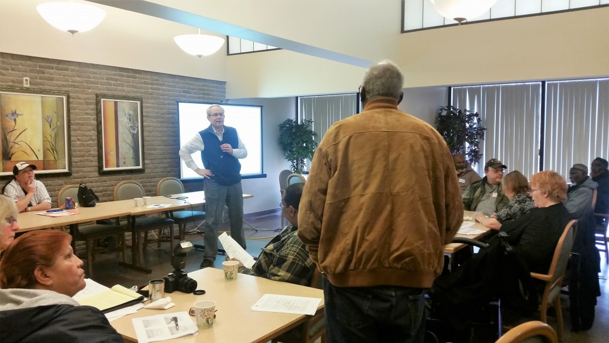 Greg Russ discusses Guiding Principles at the MHRC South Area Meeting