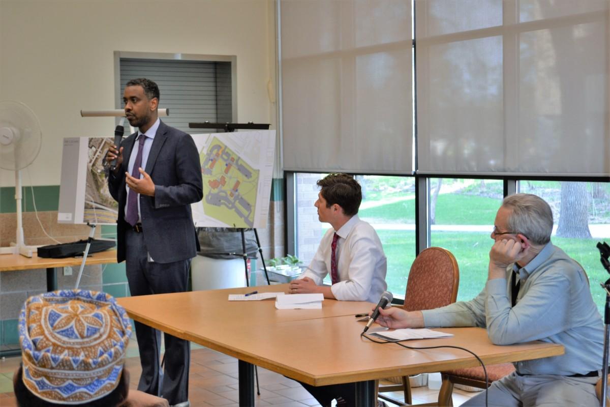 Council Member Warsame at Cedars Security Upgrades Meeting - May 2018