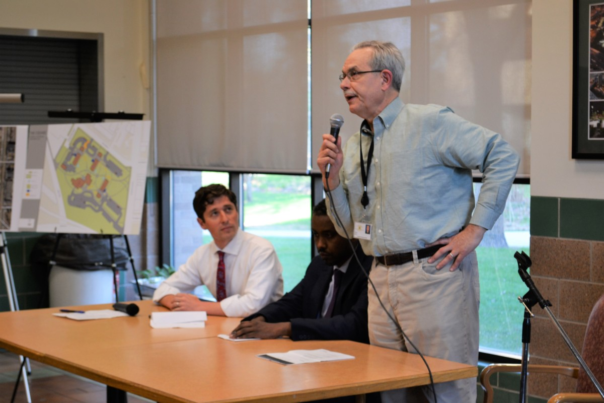 MPHA ED Greg Russ at Cedars Security Upgrades Meeting - May 2018