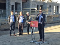 Speaking at The Louis Groundbreaking
