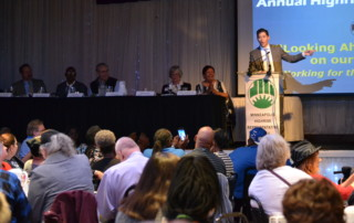 Mayor Jacob Frey speaks to MHRC