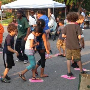 Kids at neighborhood gathering