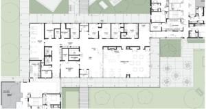 a blueprint of a building